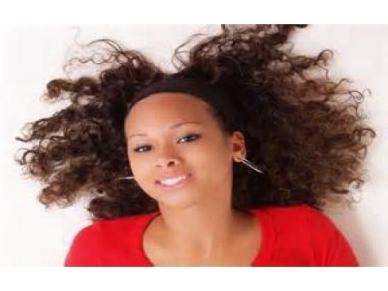 Woman with healthy head of hair