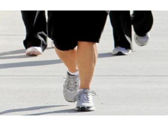 Woman with arthritis walking