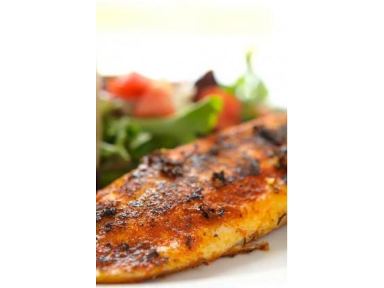 A barbecued fish red-snapper dinner.