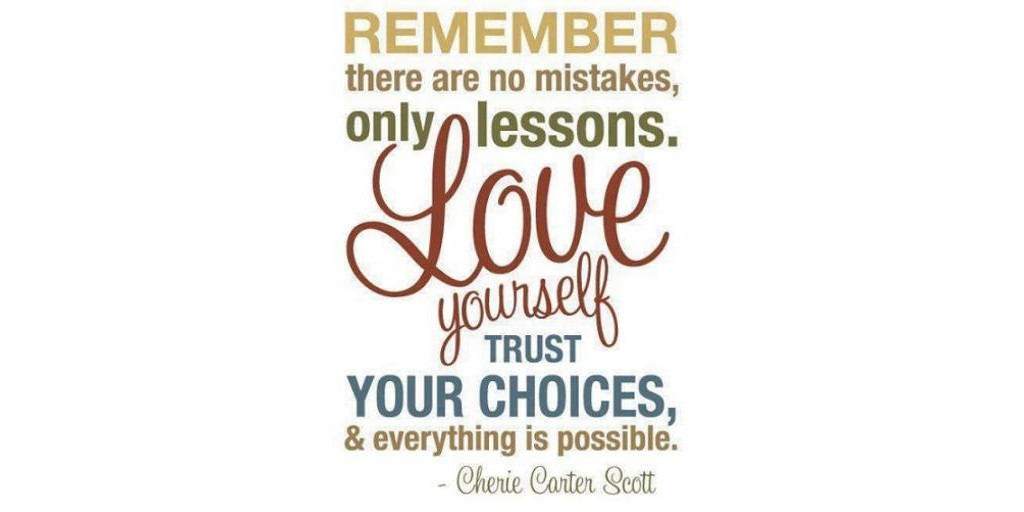 Words trust your choices