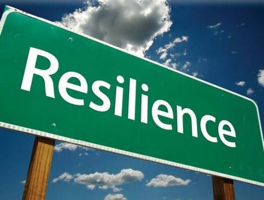 Sign with the word resilience