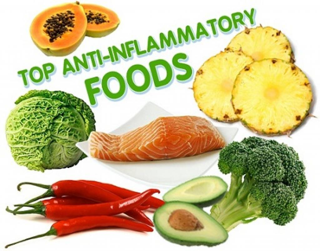A display of anti- inflammatory foods