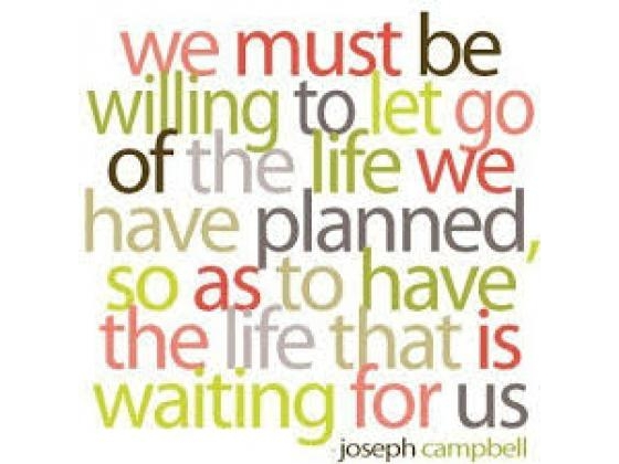Words about change and letting go