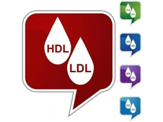 Image of HDL and LDL in a massage icon