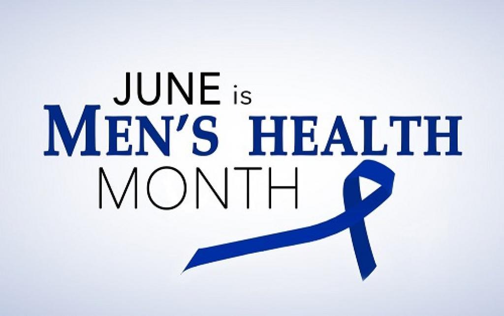Sign stating June is men's health month