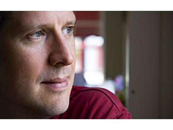 Contemplative man emotionally worries