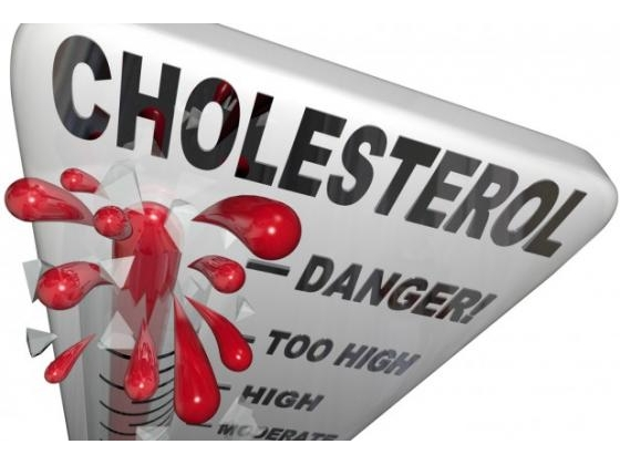 A sign with the word cholesterol