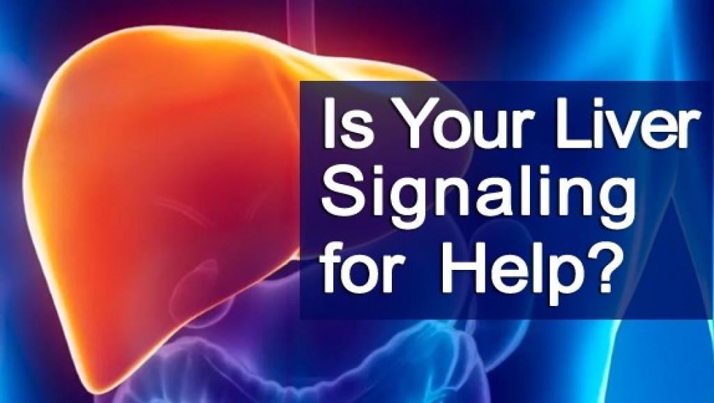 liver image with words is your liver signalling for help