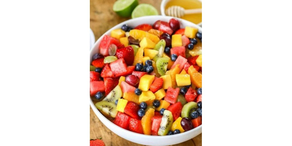 Bowl of delicious looking fresh fruit salad