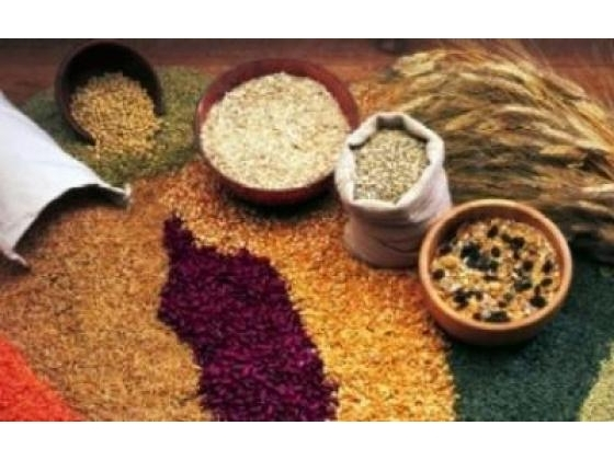 Different types of whole grains