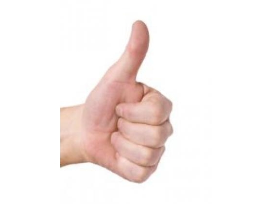 Man with his thumb up