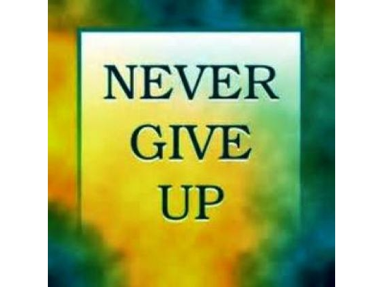 Verse never give up