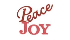 The words joy and peace written out.