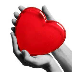 A heart in hands.