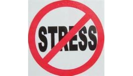 The word stress stamped out.